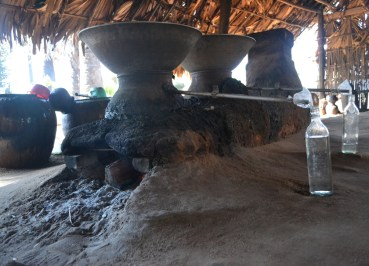 Clay Distillation Still for Making Palm Wine in Burma, Potent Acohol from Palm Trees