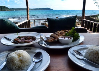 Eating Seafood with Sea Views, Captain Hook Resort Koh Kood, Travel Thailand