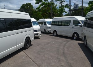 Minivan Pit Stops, Long Distance Travel in Thailand, Bangkok