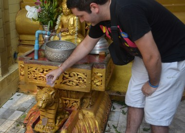 Sule Pagoda in Yangon, Thingyan Water Festival in Yangon, Myanmar Songkran