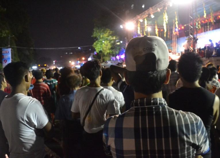 Sky Net Concert for Thingyan Water Festival in Yangon, Myanmar Songkran