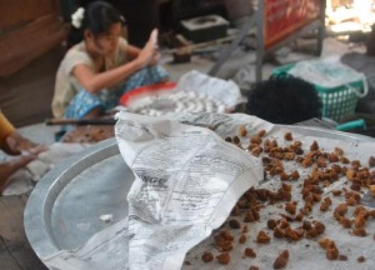 Mont Lone Ye Baw, Thingyan Water Festival in Yangon, Myanmar Songkran