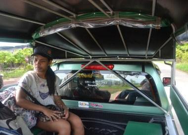 Songtaew Taxi Service on Island, Santhiya Koh Yao Yai Resort Pool Villas, Thailand