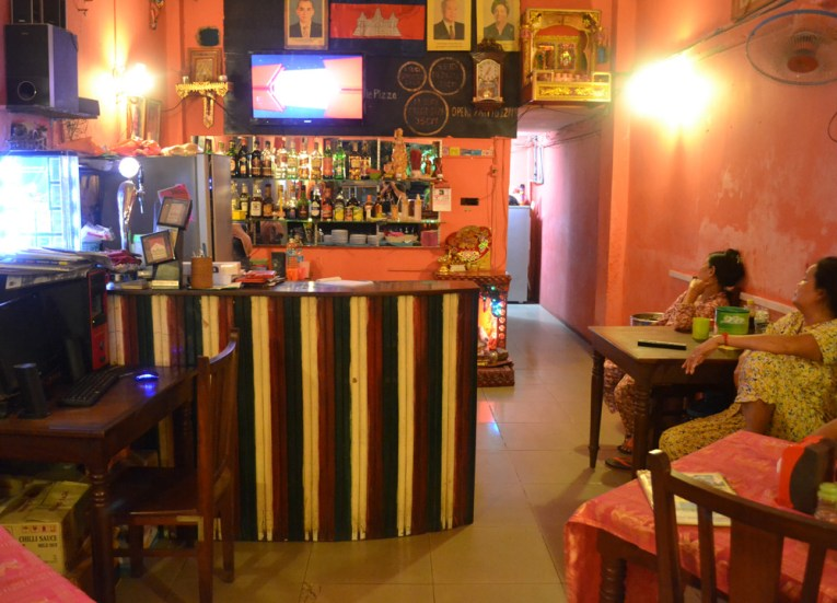 Inside Happy Special Pizza, Marijuana Happy Pizzas in Siem Reap