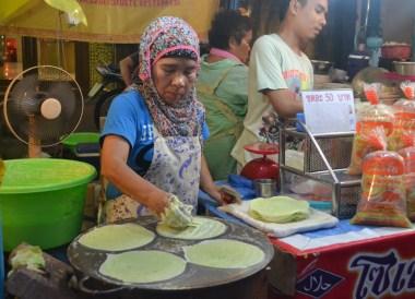 Bangkok Vegetarian Festival in Chinatown, Muslim Crepes
