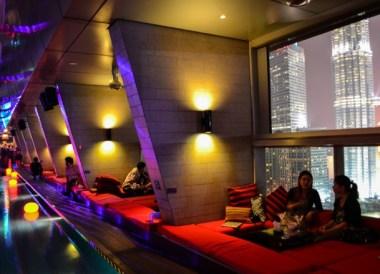 Best Views of Petronas Towers, Skybar Cabanas