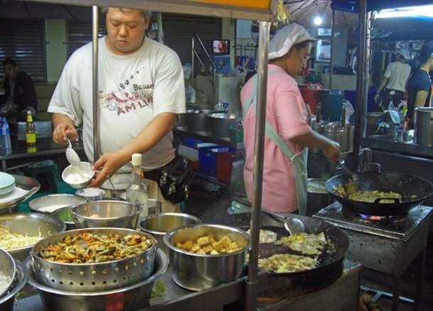 Oyster Omelette, Bangkok Street Food, Cheap Eats, Thailand