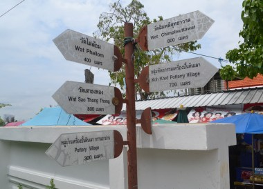Sign Post Directions, best places for cycling in Bangkok