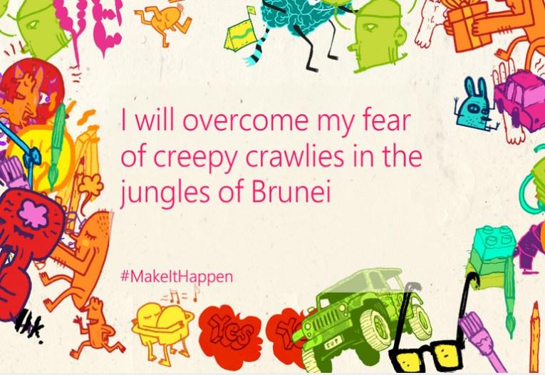 Overcoming Fear, Microsoft Lumia #makeithappen