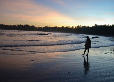 Beach Sunset in Brunei, Phobias in Borneo Rainforests
