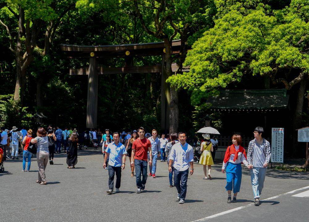 Yoyogi Park Entrance, 2 Week JR Pass, Japan Train Travel