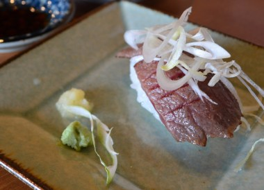 Hida Beef Sushi, Travel to Shirakawa-go Unesco Village in Spring