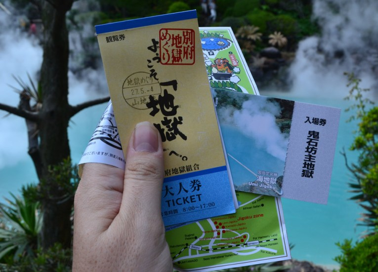 Ticket Booklet, 8 Hells of Beppu by JR Pass, Japan Travel