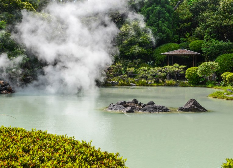 Hot Springs, 8 Hells of Beppu by JR Pass, Japan Travel