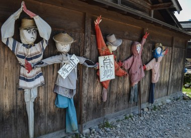 Scarecrows, Travel to Shirakawa-go Unesco Village in Spring