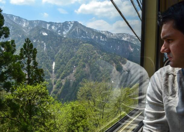 Cablecar Views, Alpine Route by JR Pass Japan