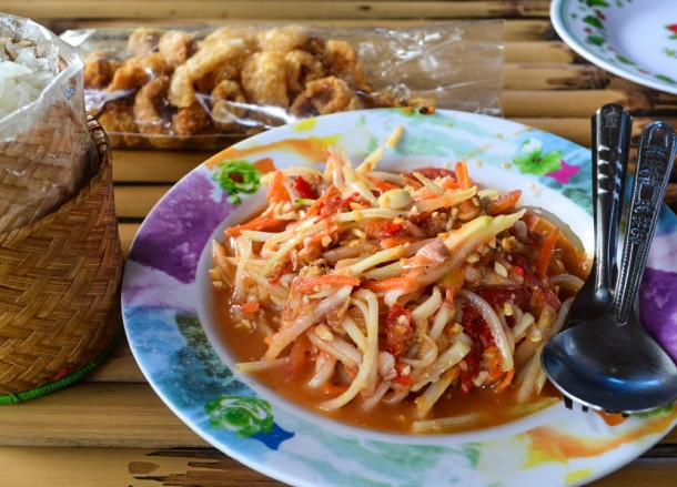 Som Tam Thai, Best Som Tam Papaya Salad Thai Food
