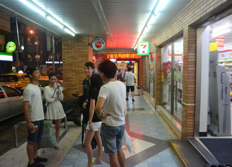 The Local 7-11s, Tourist in a Typhoon in Taipei, Taiwan
