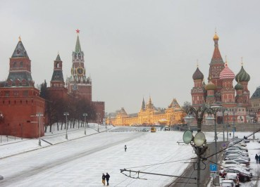 Snow Winter in Moscow Airport to City Centre
