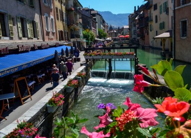 Canals of Annecy. Road Trip in France Southern Borders June