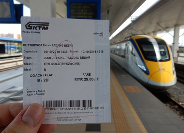 KTM ETS High Speed Train, Singapore to Thailand by Train to Bangkok