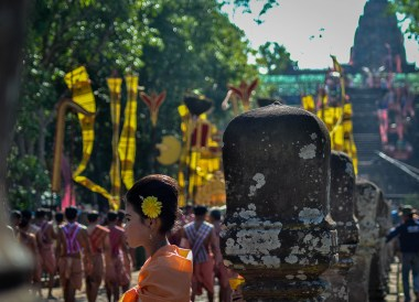 Phanom Rung Festival Parade in Day Time