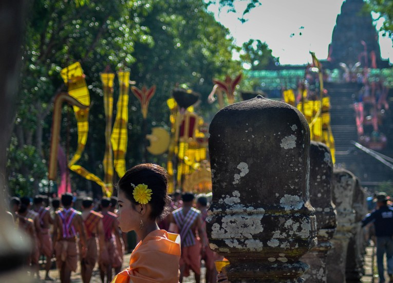 Traditional Parade. Phanomrung Festival Historical Park, Buriram Thailand