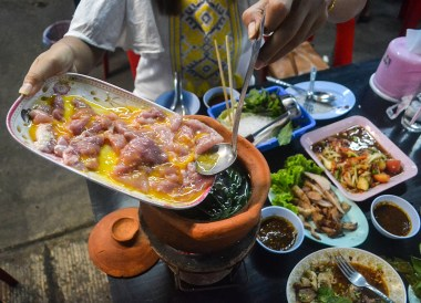 Jim Jum Hot Pot, Thai Isaan Food, Eating in Northeastern Thailand