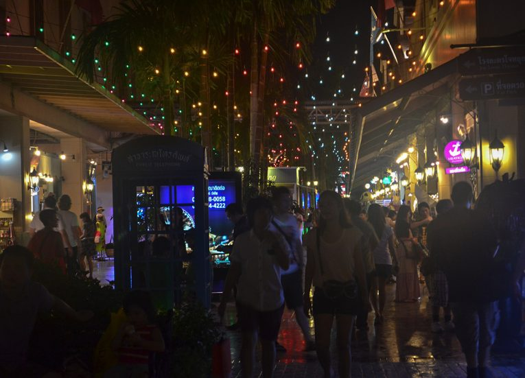 Asiatique at Night. Best Areas of Bangkok Riverside, Chao Phraya River, Thailand