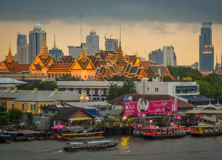 Grand Palace, Best Areas of Bangkok Riverside, Chao Phraya River, Thailand