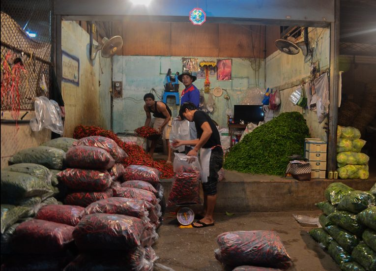 Fresh Chillies, Fresh Market, Top Attractions in Korat, Nakhon Ratchasima Isaan, Thailand
