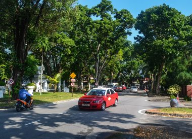 Outside Thai Embassy, Best Thai VISA Run to Penang Malaysia