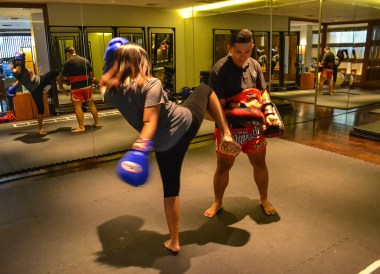 Muay Thai boxing, Anantara Vacation Club Chiang Mai Riverside
