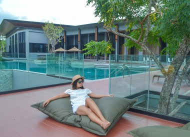 Lounging Poolside, Romance in Khao Yai DusitD2 Resort Thailand