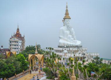 White Buddha Statue At Phasornkaew Temple, Khao Kho Phetchabun