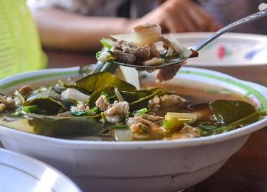 Tom Saap Soup, Thai Isaan Food, Eating in Northeastern Thailand