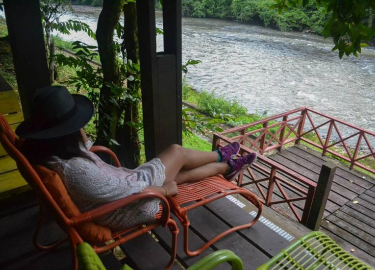 Relaxing Riverside, Ulu Ulu Resort, Temburong National Park Brunei Borneo