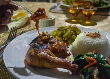 Restaurant Food at Ulu Ulu Resort, Temburong National Park Brunei Borneo
