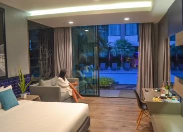 Pool Access Guestroom, X2 Vibe Buriram Hotel Isaan Northeastern Thailand