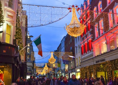 Grafton Street, Christmas in Dublin City Centre Ireland