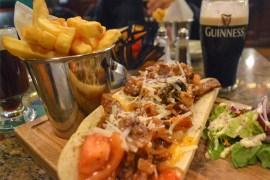 Steak Baguette, Christmas in Dublin City Centre Ireland