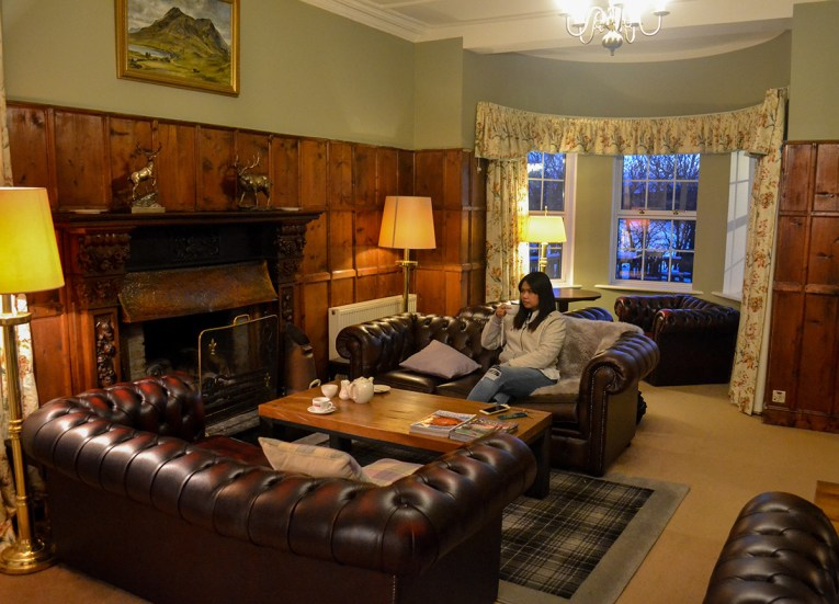 Budget Hotels on Road Trip Winter in Scottish Highlands