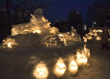 Angry Birds, Travel to the Otaru Light Festival in Hokkaido Japan on JR Pass