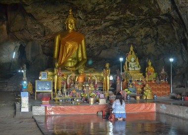 Krasae Cave Temple, Day Trip Bangkok to Kanchanaburi Tour, Thailand