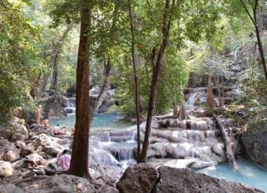 Erawan Falls, Day Trip Bangkok to Kanchanaburi Tour, Thailand