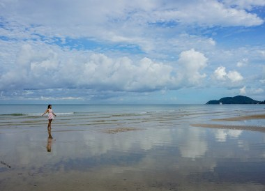 Morning on Chao Lao Beach Chanthaburi, Travel in Eastern Thailand