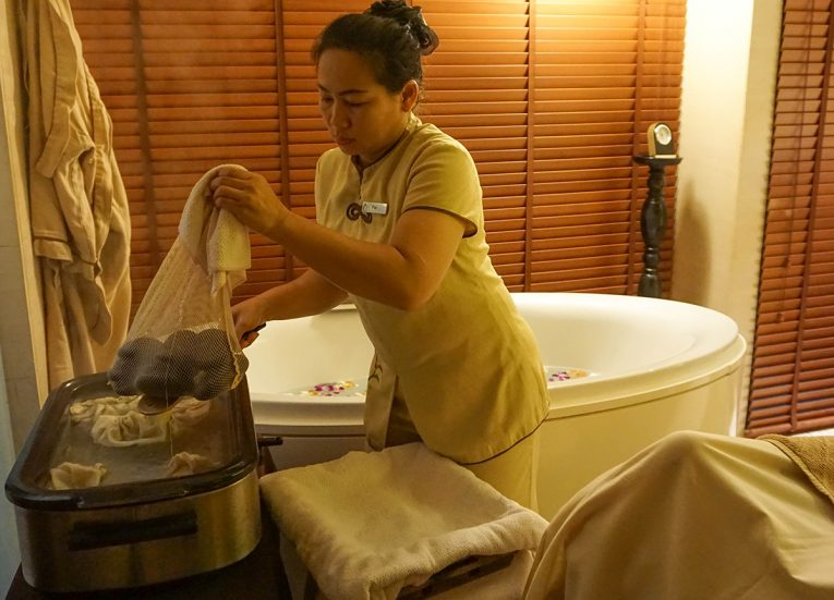 Heating Hot Stones, Best Massage in Krabi, Spa Cenvaree at Centara Grand Resort