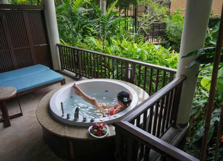 Balcony Jacuzzi at Centara Grand Resort and Villas Ao Nang Krabi Thailand