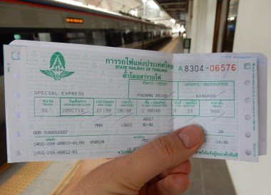 Thai Train Ticket, Singapore to Thailand by Train to Bangkok