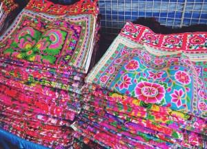 Hmong Textiles. Shopping for Thailand Souvenirs / Thai Gifts in Bangkok